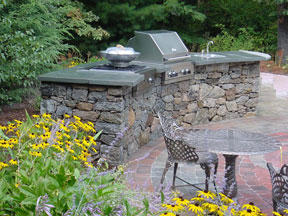Stone Bar at Hopkinton Stone & Garden