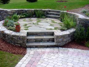 Stone and Pavers for any Landscape Project available at Hopkinton Stone & Garden. Hopkinton, MA