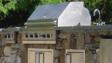 Built-in Grill and Stone Bar Accessories available at Hopkinton Stone & Garden, Hopkinton, MA