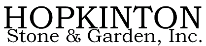 Logo, Hopkinton Stone& Garden, Inc. Quality Trees and Shrubs Hopkinton, MA