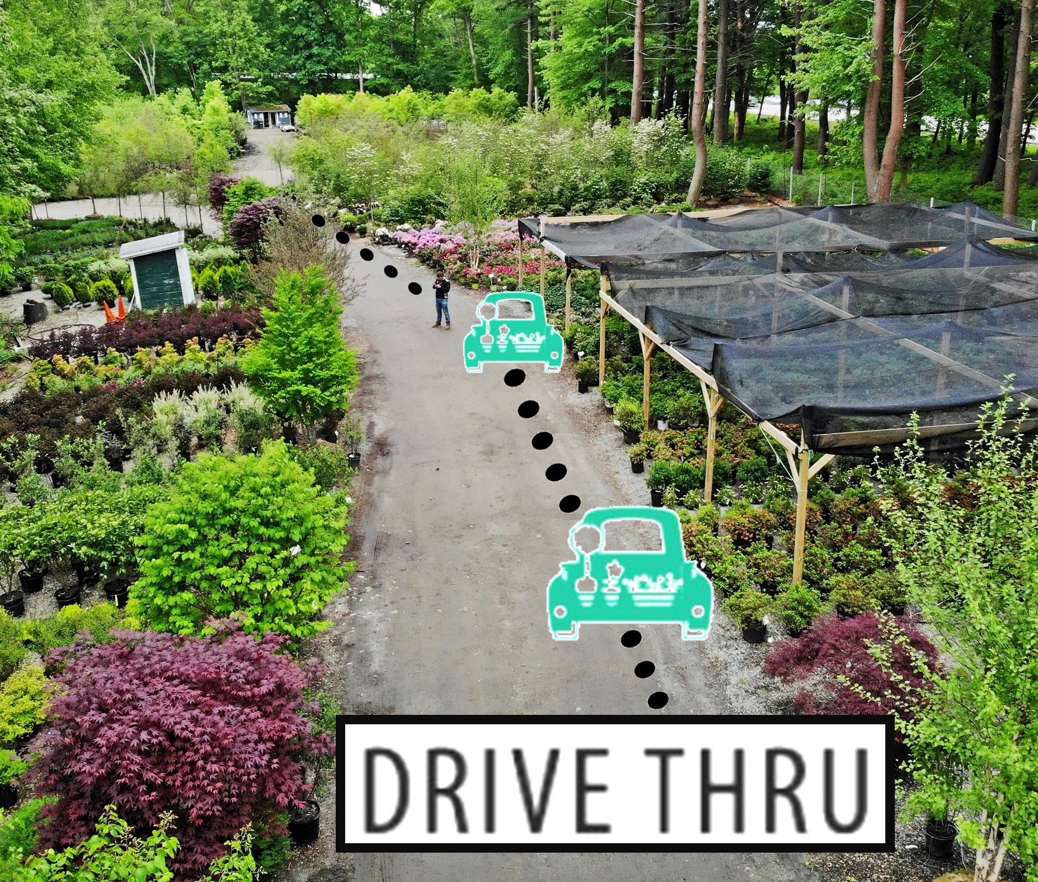 Drive Thru Shopping at Hopkinton Stone and Garden